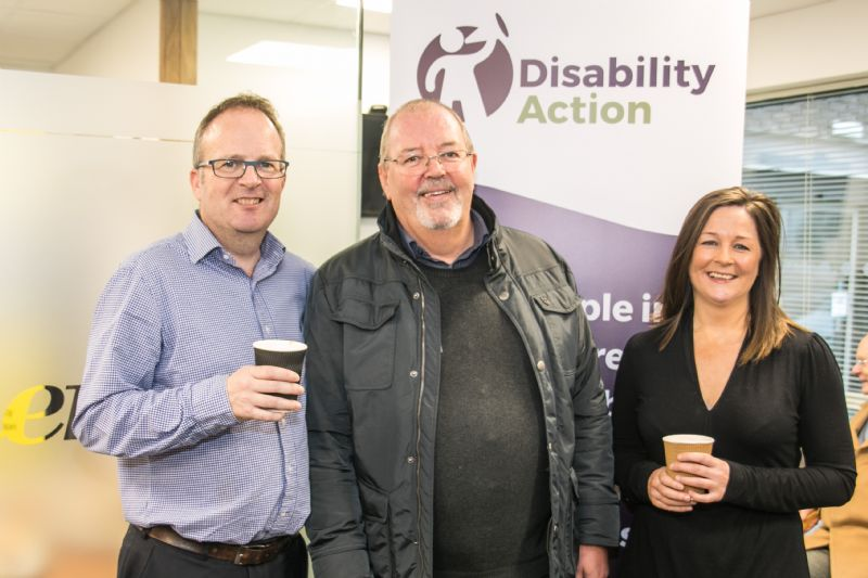 shaun fisher mervyn lamont and clare sheeran (disability action)